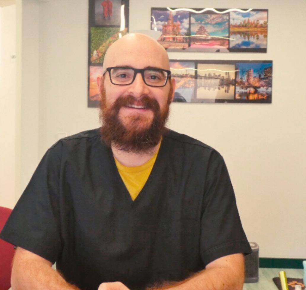 Masajista y cuidado del cuerpo