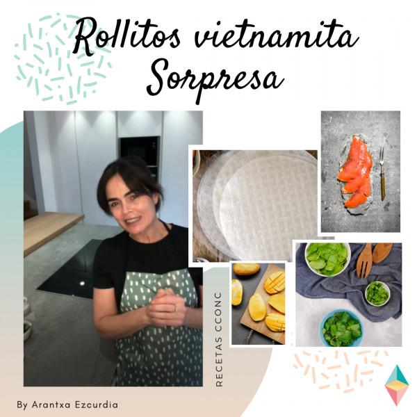 Receta rollitos vietnamitas sorpresa