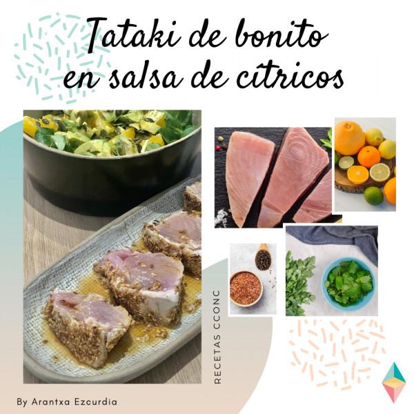 Tataki de bonito en salsa de cítricos